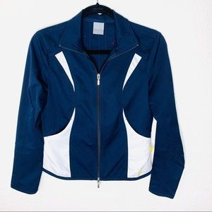 Nike Fitted Blue and White Jacket Size Small